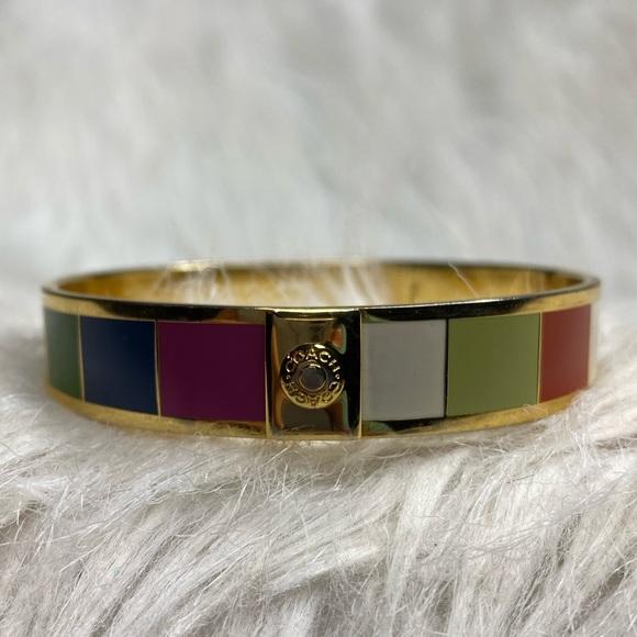 Coach Jewelry - ⭐️ Coach ⭐️ Legacy Stripe Bangle Bracelet